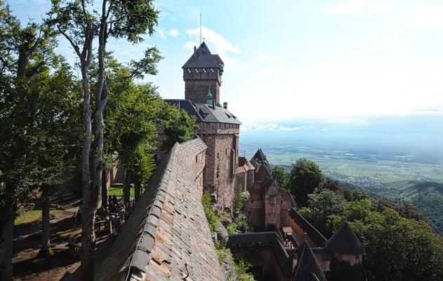 Vue du Château du Haut Koenigsbourg